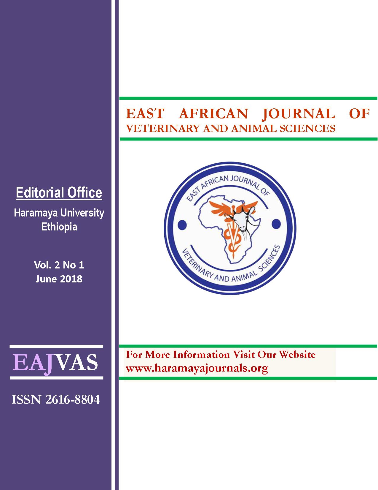 East African Journal of Veterinary and Animal Sciences